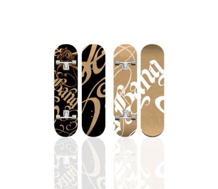 Skateboard Typography Design Study