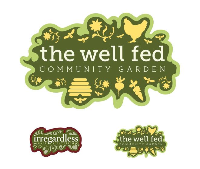 The Well Fed Community Garden Logo